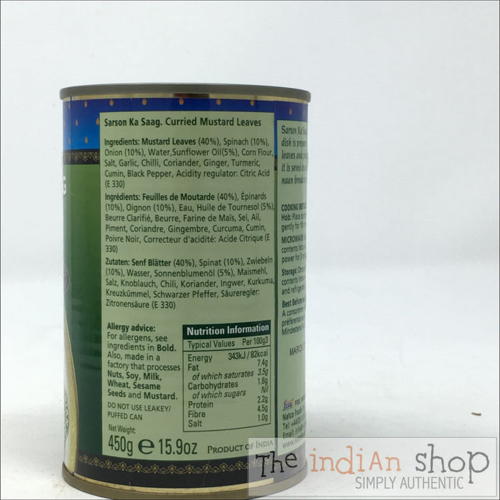 Natco Sarson Ka Saag - 450 g - Canned Items