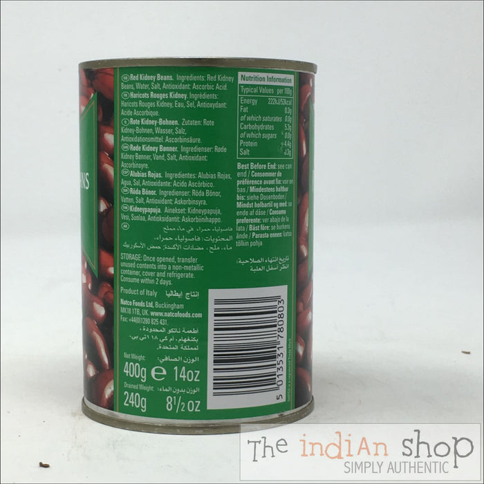 Natco Red Kidney Beans Boiled - 400 g - Canned Items