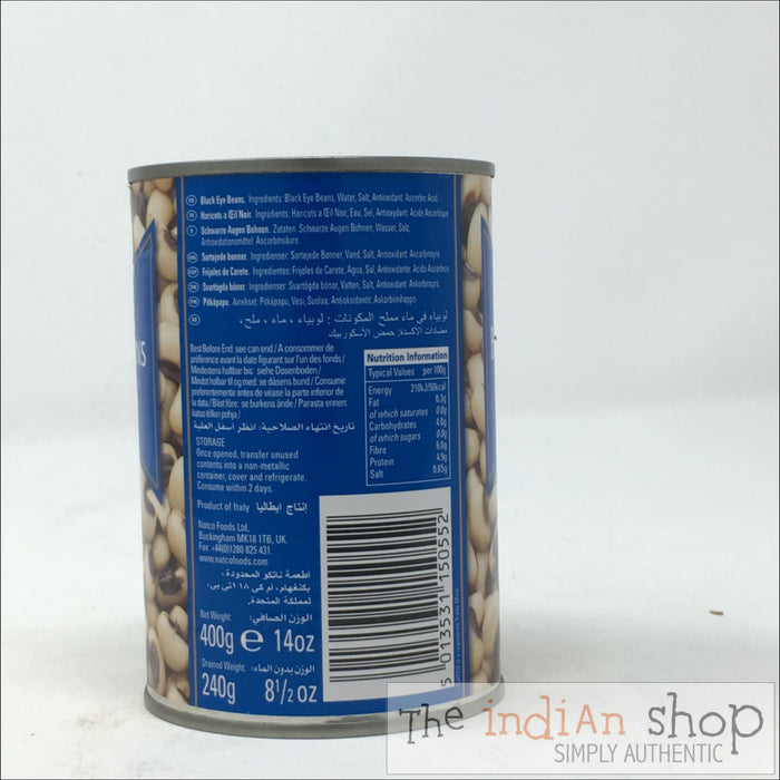 Natco Black Eye Beans - 400 g - Canned Items