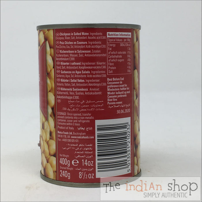 Natco Chick Peas Boiled - 400 g - Canned Items