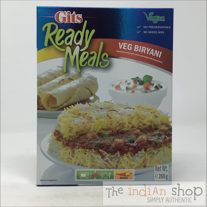 GITS Ready Meals Veg Biryani RTE - 265 g - Ready to eat