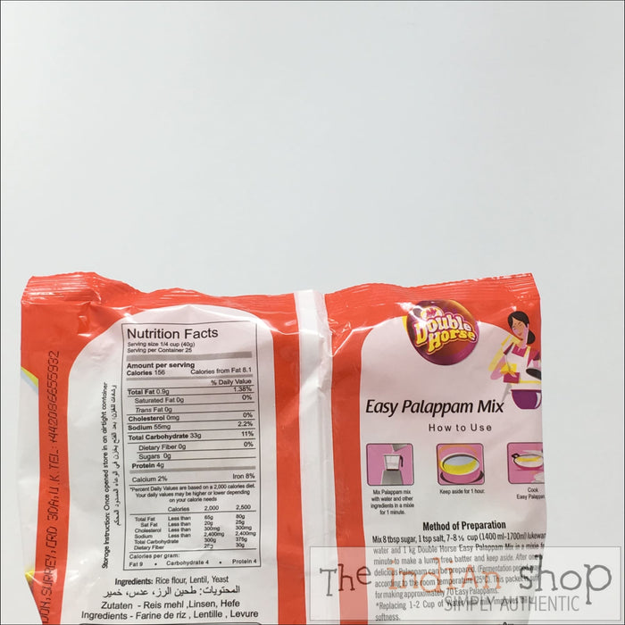 Double Horse Easy Palappam Mix - Other Ground Flours