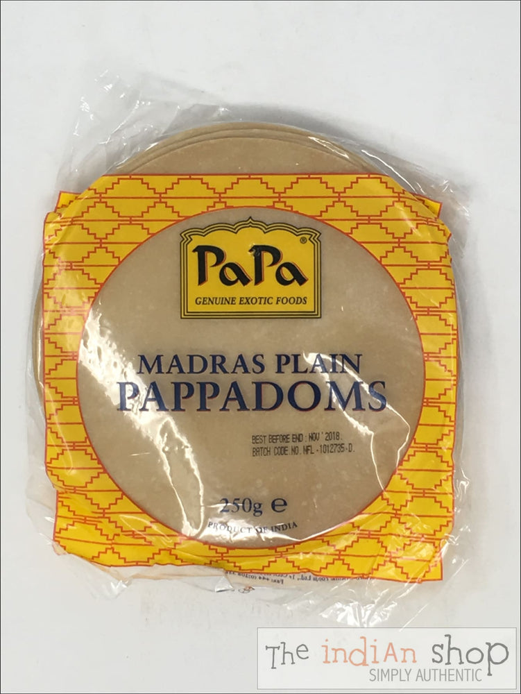 Papa Madras Papadadoms - Appallams