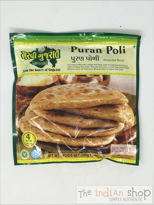 Garvi Gujarat Puran Poli - 380 g - Frozen Indian Breads