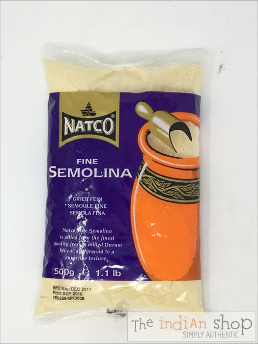 Natco Semolina Fine - 500 Grams - Other Ground Flours