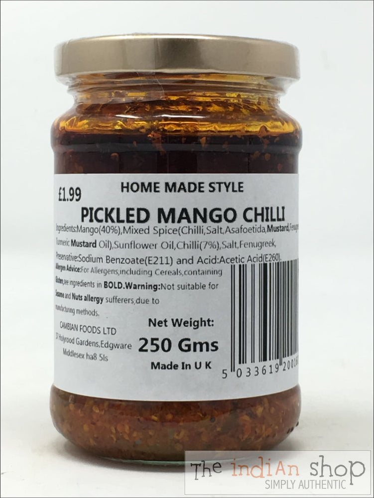 Home Made Style Pickled Mango Chilli - 250 g - Pickle