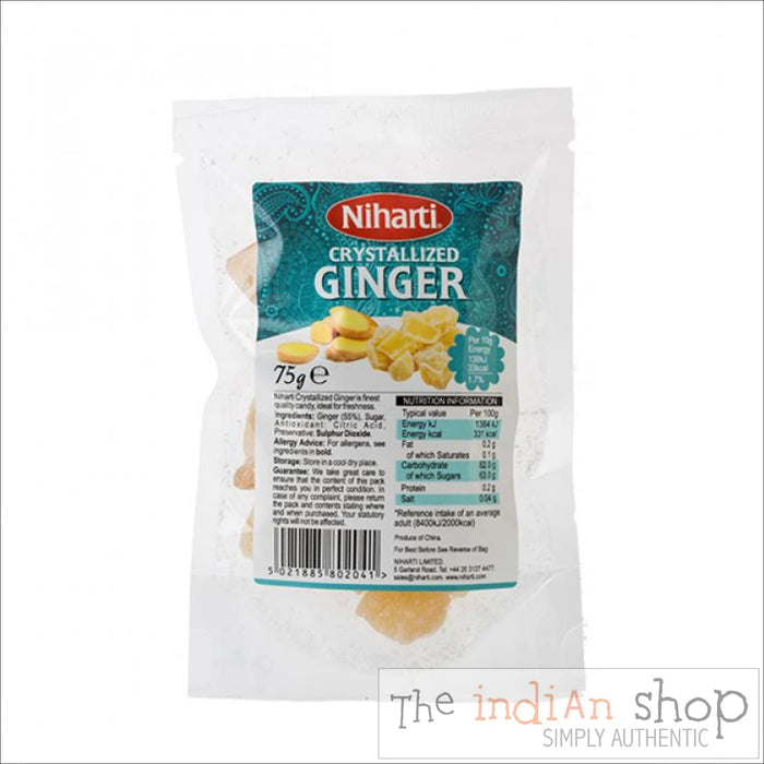 Niharti Crystallised Ginger - 75 g - Spices