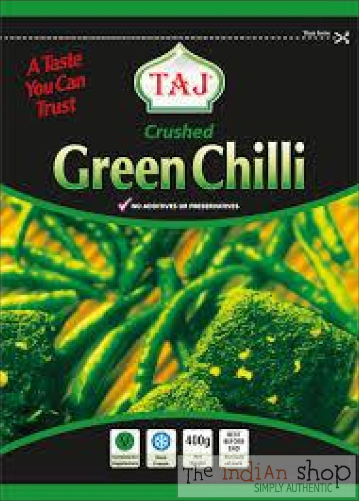 Taj Crushed Green Chilli - 400 g - Frozen Vegetables