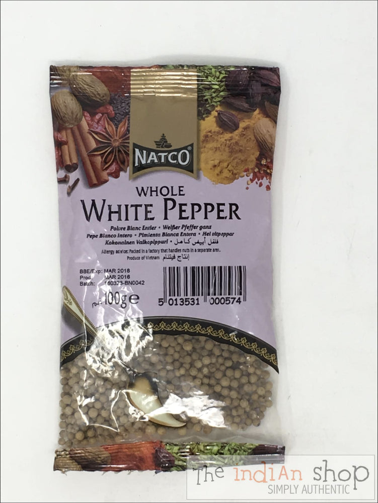 Natco White Pepper Whole - 100 g - Spices