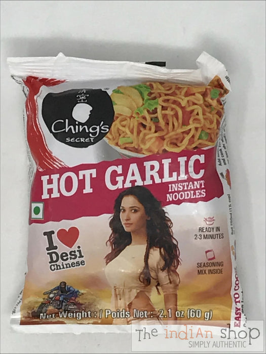 Chings Hot Garlic Noodles - 60 g - Snacks