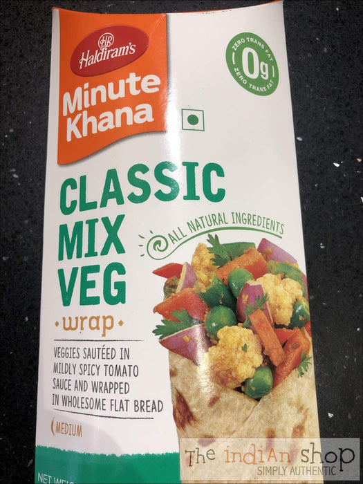 Haldiram Wraps Classic Mix Veg - Frozen Ready to Eat
