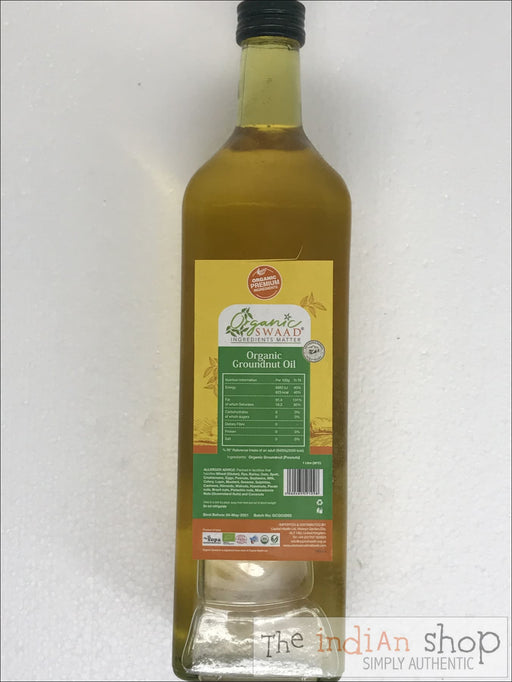 Organic Swaad Cold Pressed Groundnut Oil - 1 Lt - Oil