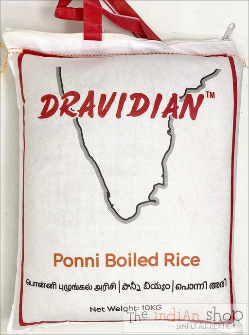 DRAVIDIAN Ponni Boiled Rice (Reusable Zipper bag for easy storage) - 10 Kg - Rice