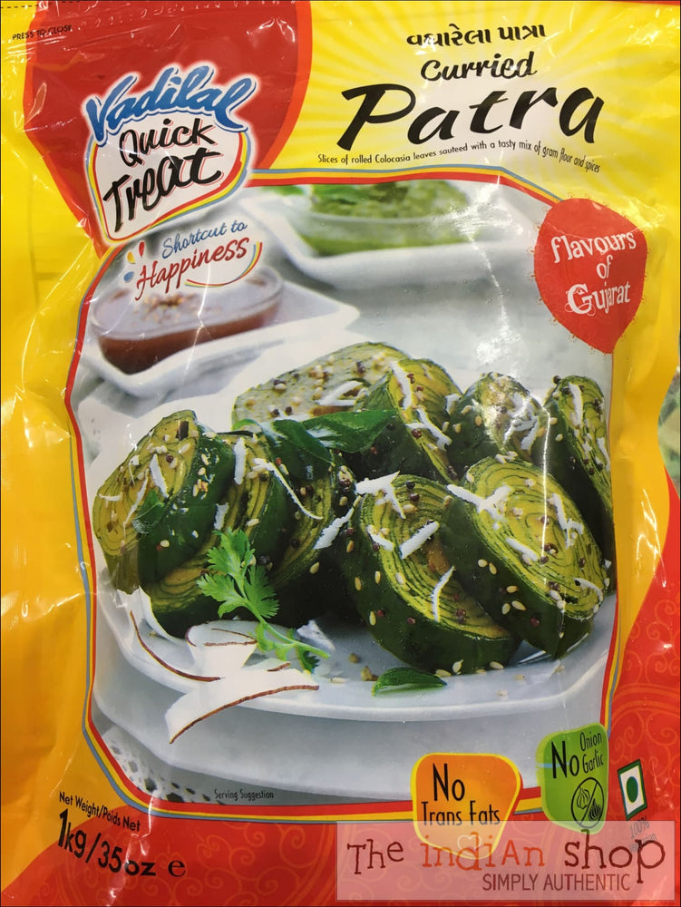 Vadilal Curried Patra Slices - 1 Kg - Frozen Vegetables