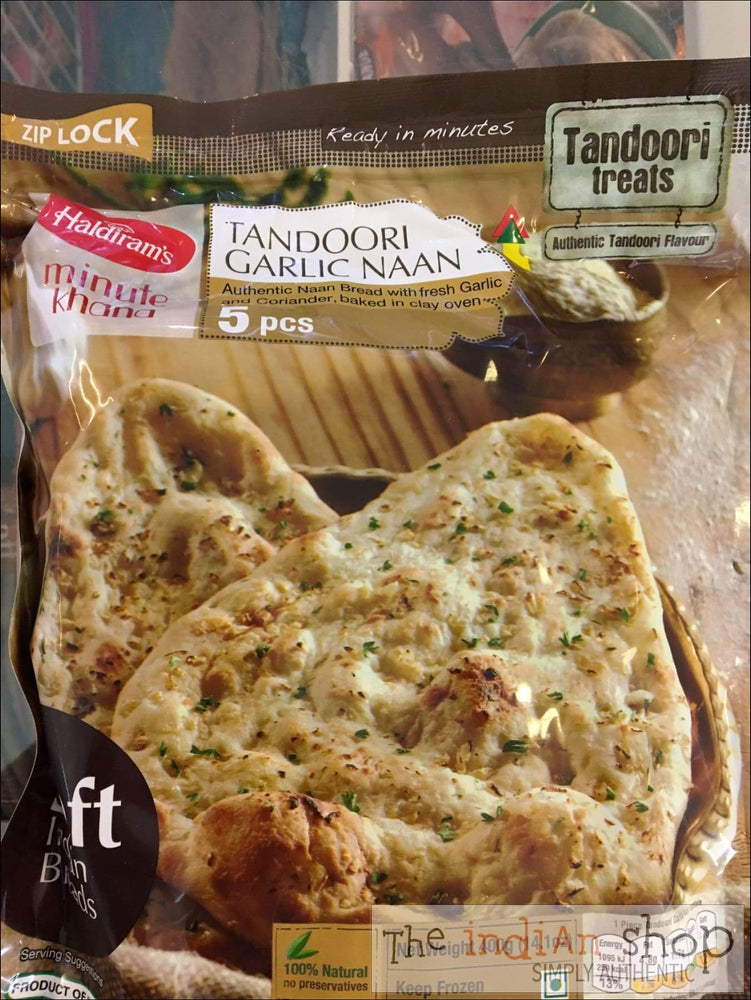 Haldiram Tandoori Garlic Naan - Frozen Indian Breads