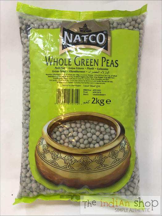Natco Whole Green Peas - Lentils