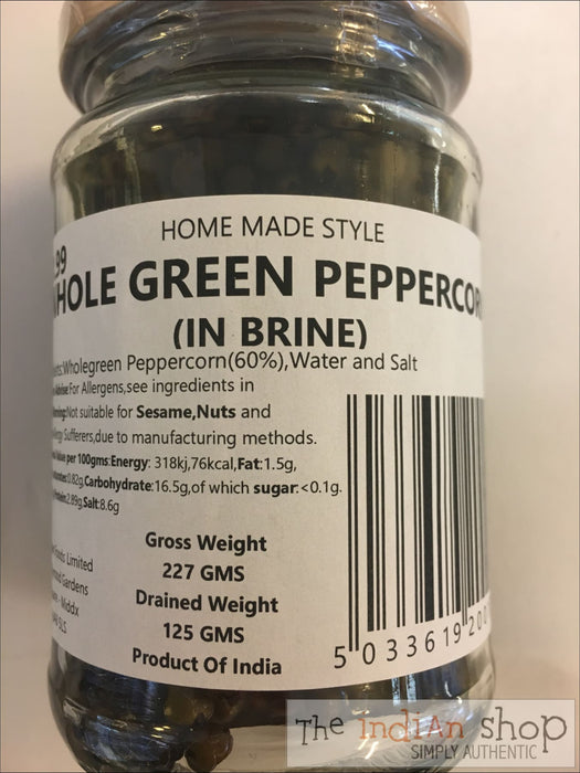 Home Made Style Green Pepper Corn (in Brine) - Pickle