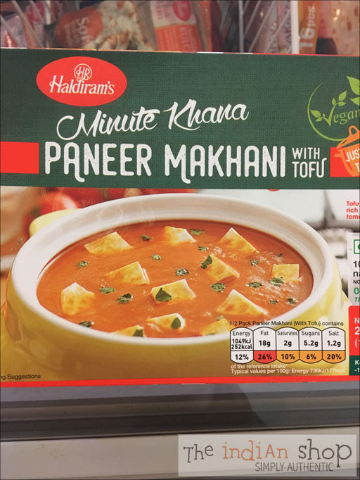 Haldiram Vegan Paneer Makhani - Frozen Curries