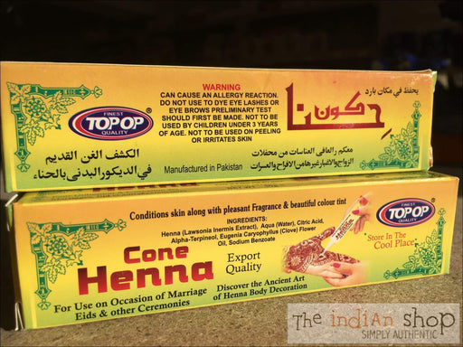 Top-Op Henna Cone - Beauty and Health