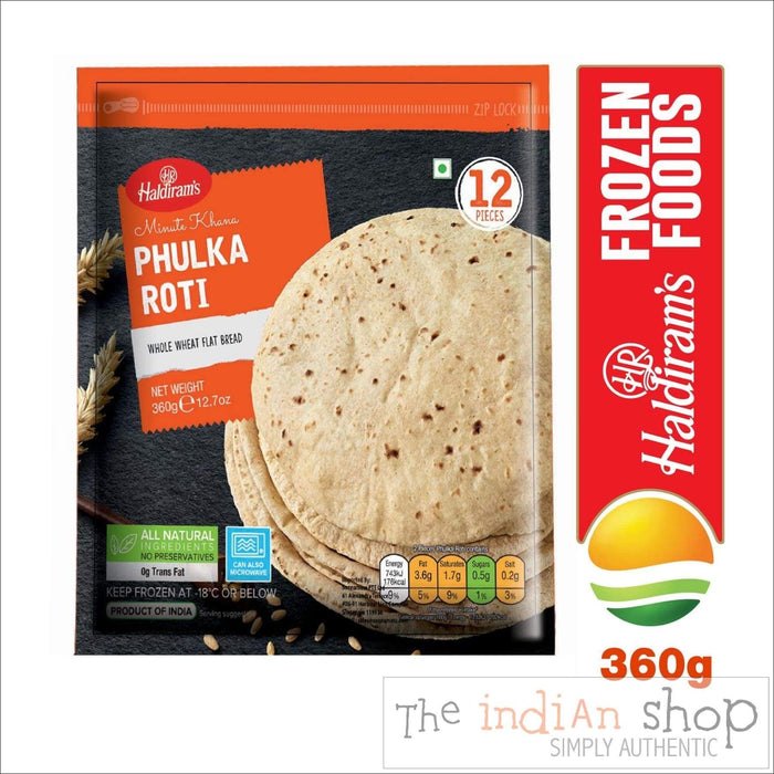 Haldiram Phulka Roti - Frozen Indian Breads