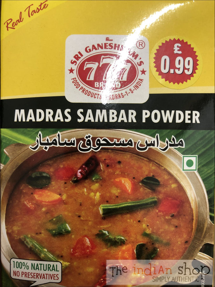 777 Madras Sambar Powder - 165 g - Mixes