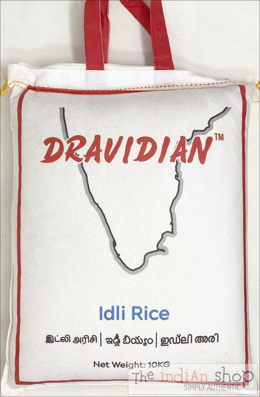 DRAVIDIAN Idli Rice (Reusable Zipper bag for easy storage) - 10 Kg - Rice