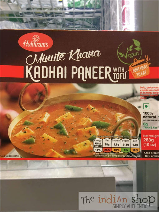 Haldiram Vegan Kadhai Paneer - Frozen Curries