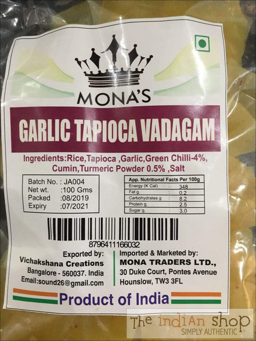 Monas Garlic Tapioca Vadagam - Appallams