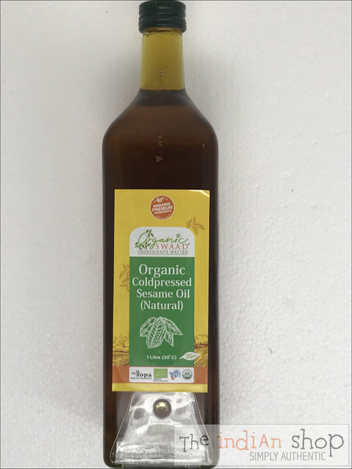 Organic Swaad Cold Pressed Sesame Oil - 1 L - Oil