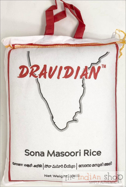 DRAVIDIAN Sona Masoori Rice (Reusable Zipper bag for easy storage) - 10 Kg - Rice
