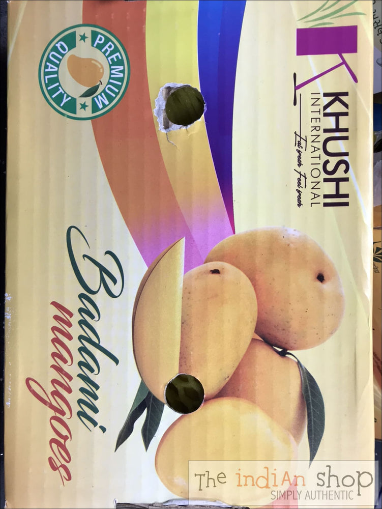 Badami Mangoes - 4- 6 in a box (approx 1.4 Kg) - Mangoes