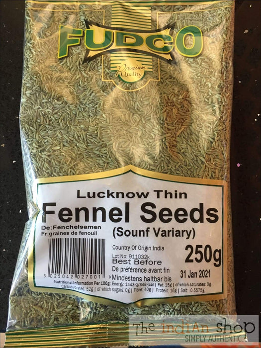 Fudco Lucknow Thin Fennel Seeds - Spices