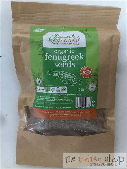 Organic Swaad Methi Seeds (Fenugreek) - Spices