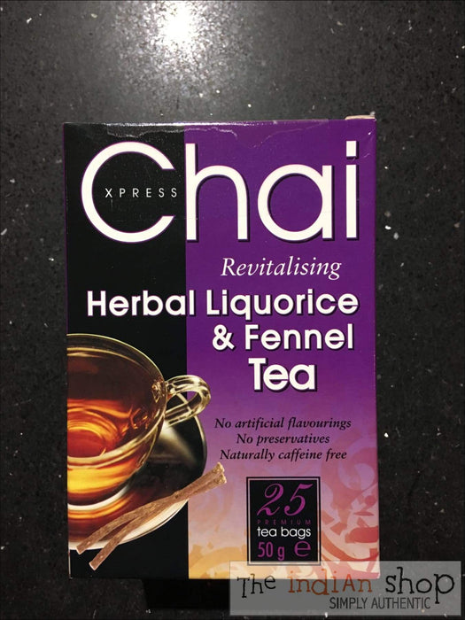 Chai Express Herbal Liquorice and Fennel Tea - Drinks