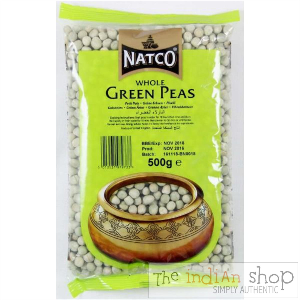 Natco Whole Green Peas - 500 g - Lentils