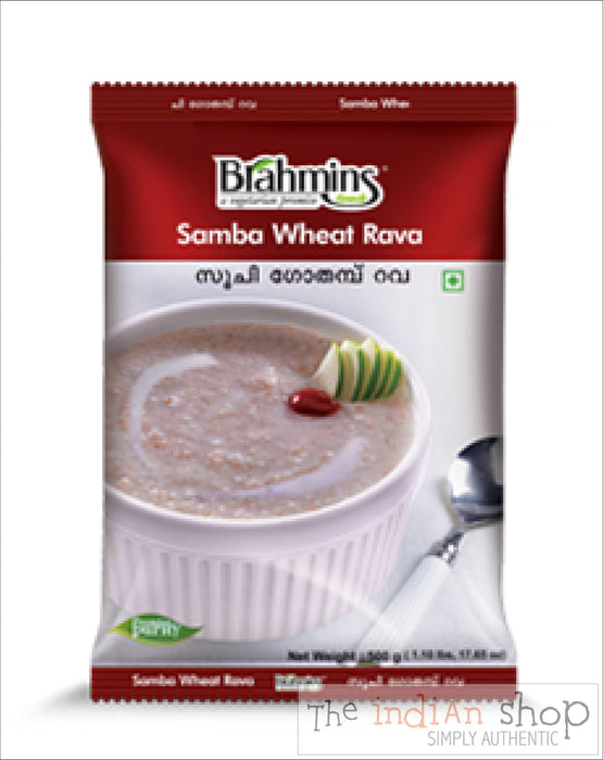 Brahmins Samba Wheat Rava - 500 g - Other Ground Flours