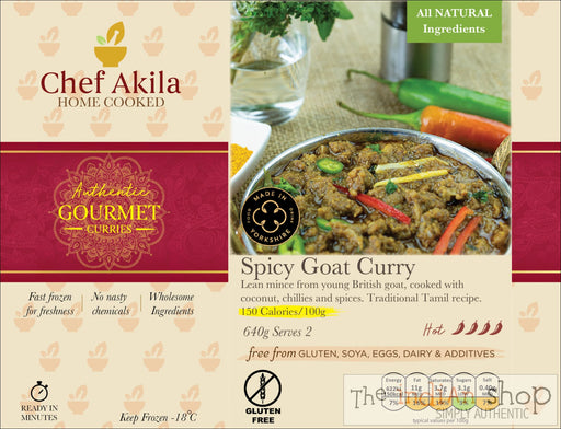 Chef Akila Desi Goat Curry - 640 g - Frozen Curries