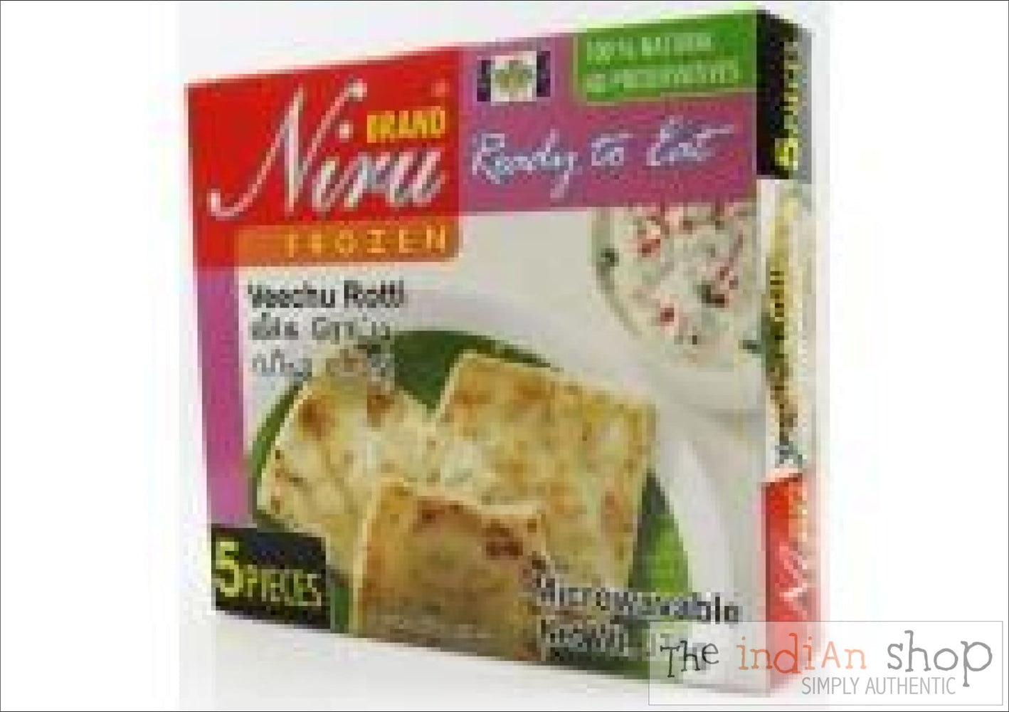 Niru Veechu Paratha - 375 g - Frozen Indian Breads