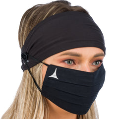 Headband with buttons + 100% Cotton Face Mask + 2 Filters