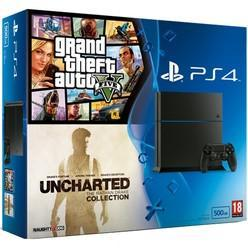 PlayStation 4 500GB With Uncharted Collection & Grand Theft Auto V - GameIN