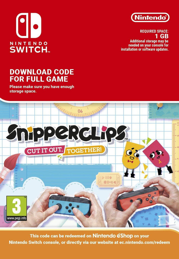 Snipperclips: Cut it out - Together (Nintendo Switch Download) - GameIN
