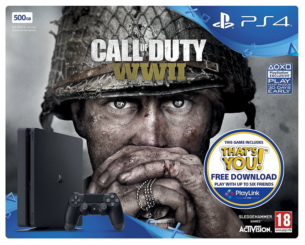 PlayStation 4 Slim 500GB with COD WWII - GameIN
