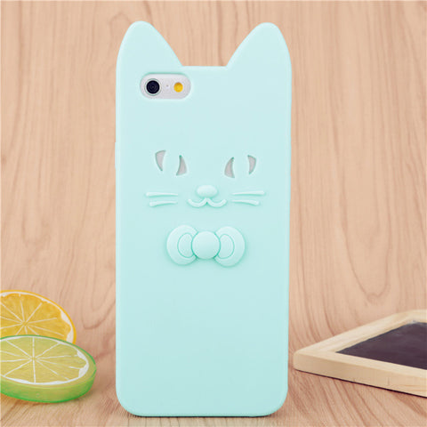 Cute 3D Bow Tie Cat Ears iPhone Cases