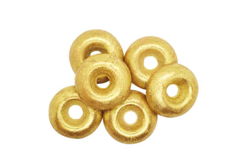 6 gold donut shaped soy wax melts.