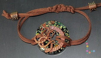 Copper Wire Pendant Bracelet