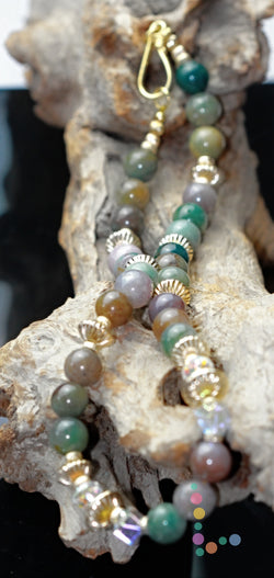 14K Fancy Jasper Necklace