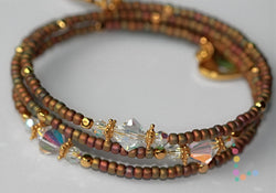 Seed Beads and Swarovski Crystals