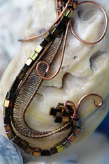 Copper Wire Wrap Seashell Pendant