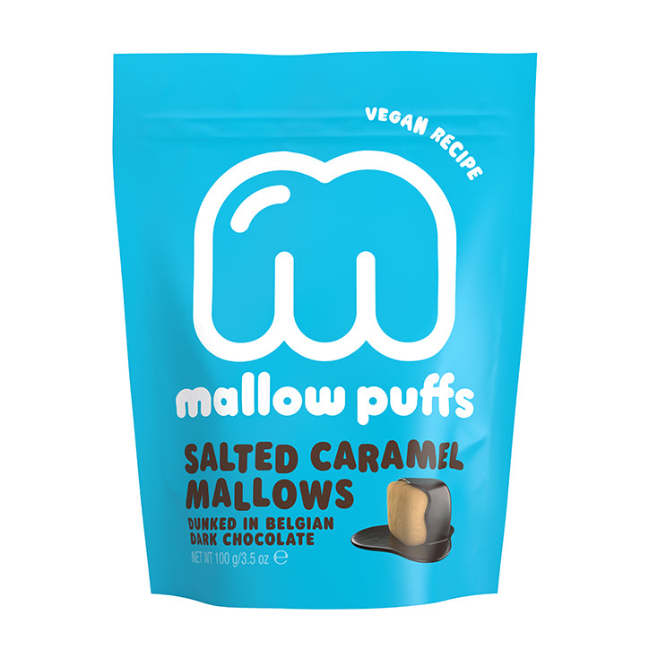 Mallow Puffs Salted Caramel Mallows 100g - Shipping From Just £2.99 Or FREE When You Spend £60 Or More