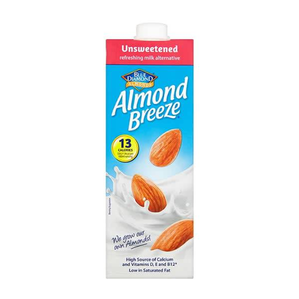 Blue Diamond Almond Breeze Unsweetened 1l - Shipping From Just £2.99 Or FREE When You Spend £60 Or More